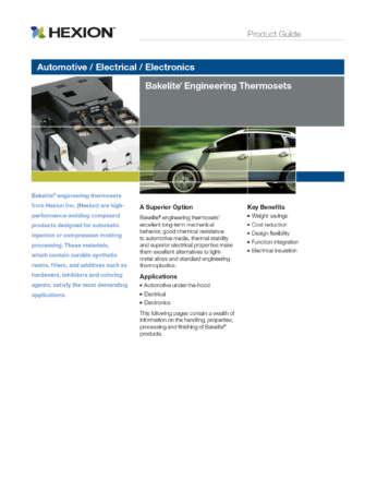 Preview: Product Guide for Automotive / Electrical / Electronics